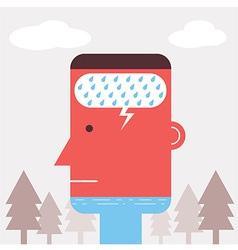 Rain man vector