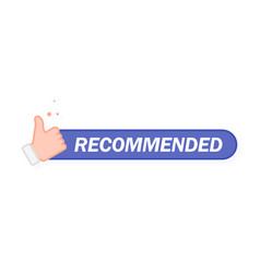 recommended icon line label recommended with vector image
