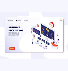 recruitment landing page businessmen have vector image