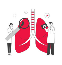 Respiratory medicine healthcare and pulmonology vector