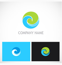 Round curl ecology nature logo vector