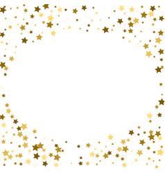 Round gold frame or border of random scatter vector