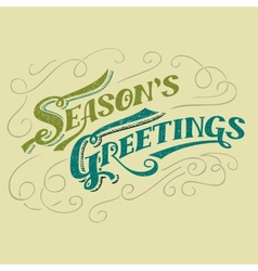 Seasons greetings typographic design vector