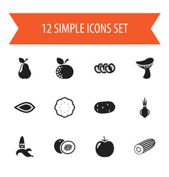 Set of 12 editable cookware icons includes vector