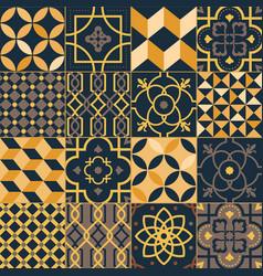 set square ceramic tiles with elegant vector image