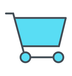 Shopping cart pixel perfect thin line icon 48x48 vector