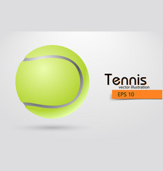 Silhouette of a tennis ball from particles vector