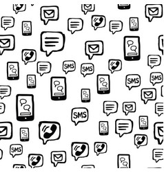 Smart phone sms and email communications seamless vector