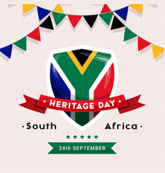 South africa heritage day - 24 september - square vector