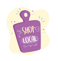support local business shop small market retail vector image