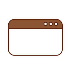 template webpage isolated icon vector image
