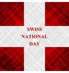 The swiss national day schweizer bundesfeier vector