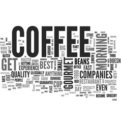 What happened to coffee text word cloud concept vector