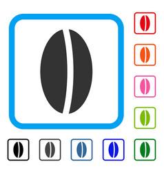 Wheet seed framed icon vector