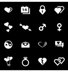 white love icon set vector image