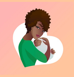 young mother with baby in her hands vector image