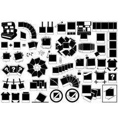 Instant photos set vector image