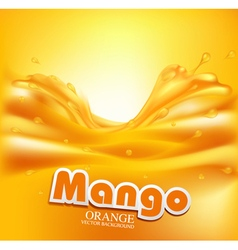 juicy background with splashes of orange juice vector image