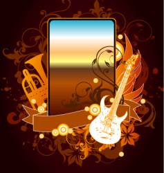 musical instrument frame vector image vector image