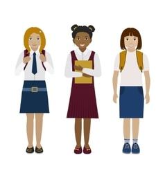 School girls flat vector image