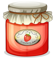 A strawberry jam vector image
