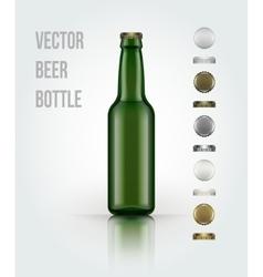 Blank glass beer bottle for new design vector image