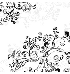 Floral abstract pattern 5 vector image vector image