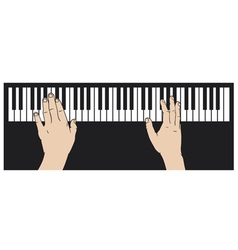 hands playing piano vector image vector image