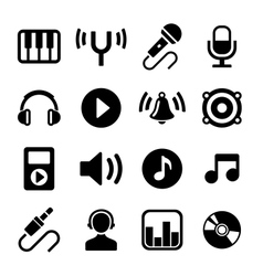 Music Icons Set vector image vector image
