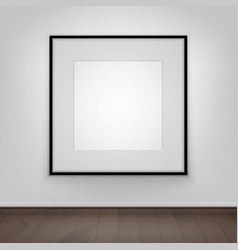 poster picture black frame on wall front view vector image vector image