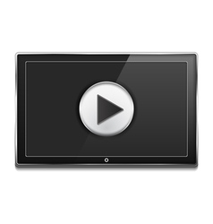 TV Screen with Play Button vector image