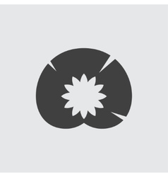 Water lily icon vector image