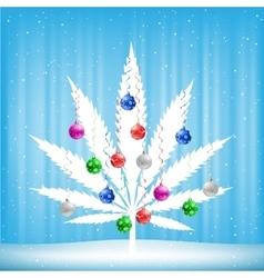 Christmas cannabis tree vector image