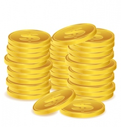 dollar coins vector image