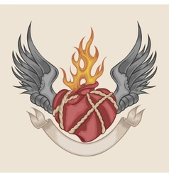 Image of the heart vector image