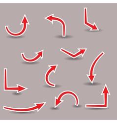 red arrows vector image vector image