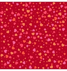 Seamless pattern with colorful hearts background vector image vector image