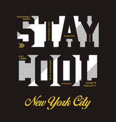 stay cool new york city vector image