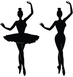 woman ballet dancer silhouette vector image vector image
