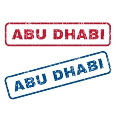 Abu Dhabi Rubber Stamps vector image