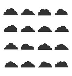 black cloud silhouette vector image vector image