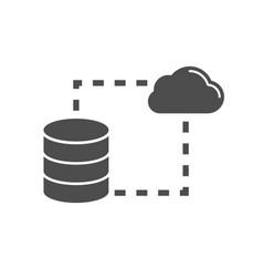 data storage sync flat icon vector image