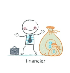 financier is a bag of money vector image