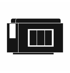 Inkjet printer cartridge icon simple style vector