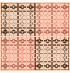 square black and red lines isolated on a vector image