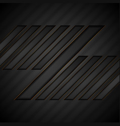 abstract black geometric tech background vector image