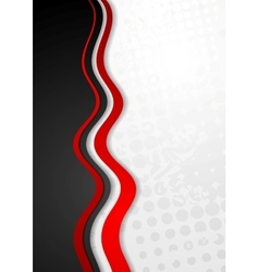 Abstract corporate grunge wavy background vector image