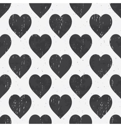 Abstract seamless grunge monochrome pattern vector image