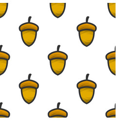 acorn seamless pattern vector image
