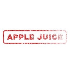 Apple juice rubber stamp vector